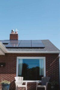Solpaneler på tak - solel